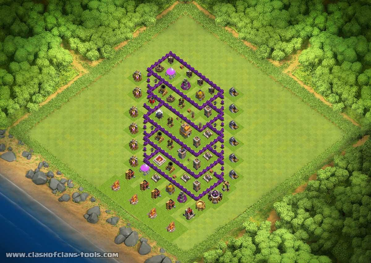 Great Townhall 7 Hybrid Clash Of Clans Layout Created By Ghost 77 Try It Out In The Attack Simulator S Clash Of Clans Clash Of Clans Game Clash Of Clans Hack