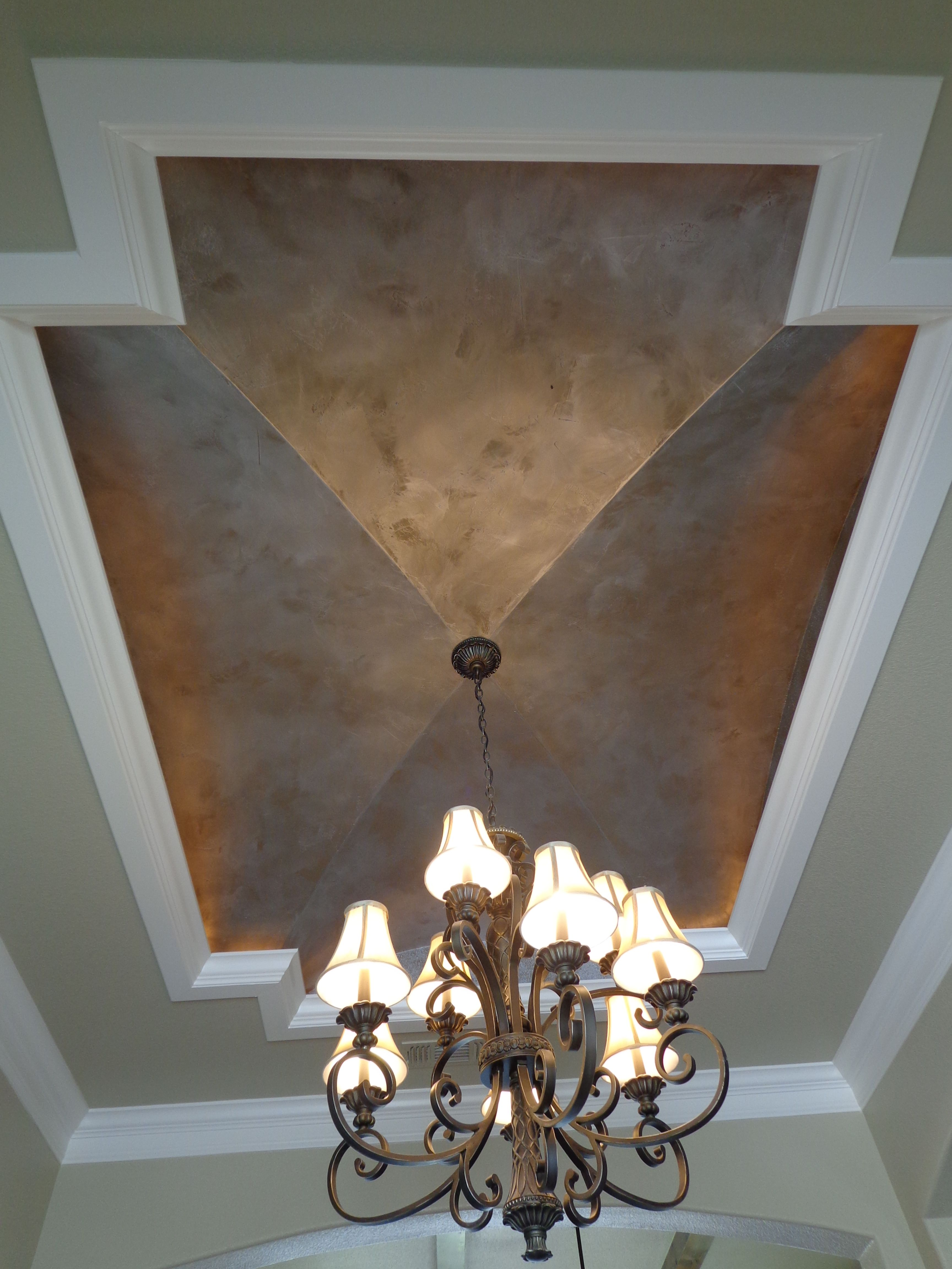Modern masters silver metallic paint ceiling by peter - Metallic silver paint for interior walls ...