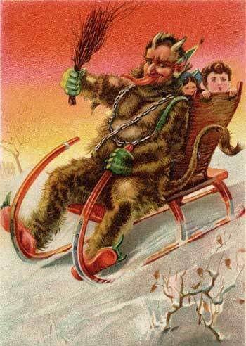 Krampus Germany Anastasia Greto Lol Is This What Dwight Was Krampus Christmas Greetings Origin Of Christmas