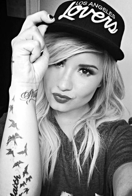 91291385bad90 Demi Lovato in our Lovers + Friends Los Angeles Snapback Hat ...