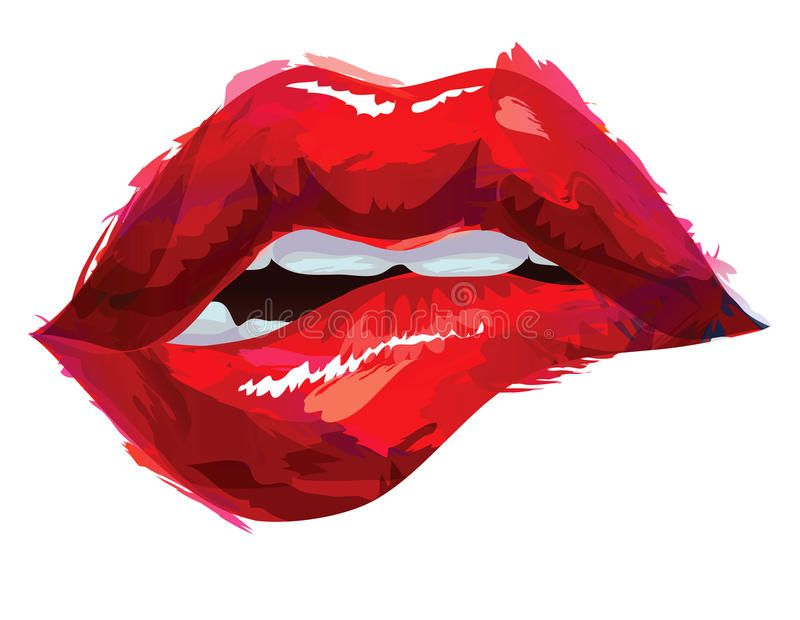 Download Red Lips Stock Vector Illustration Of Drawing Vector