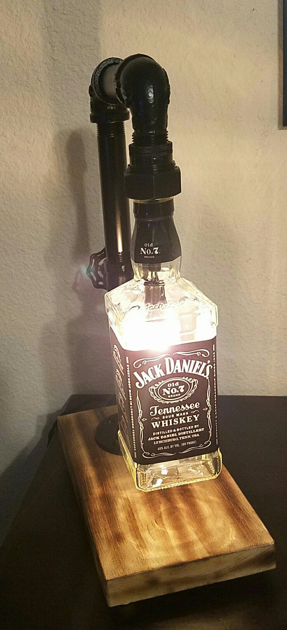 Jack Daniel&39;s lamp BottleLamp   Bottle lamp, Jack daniels ...