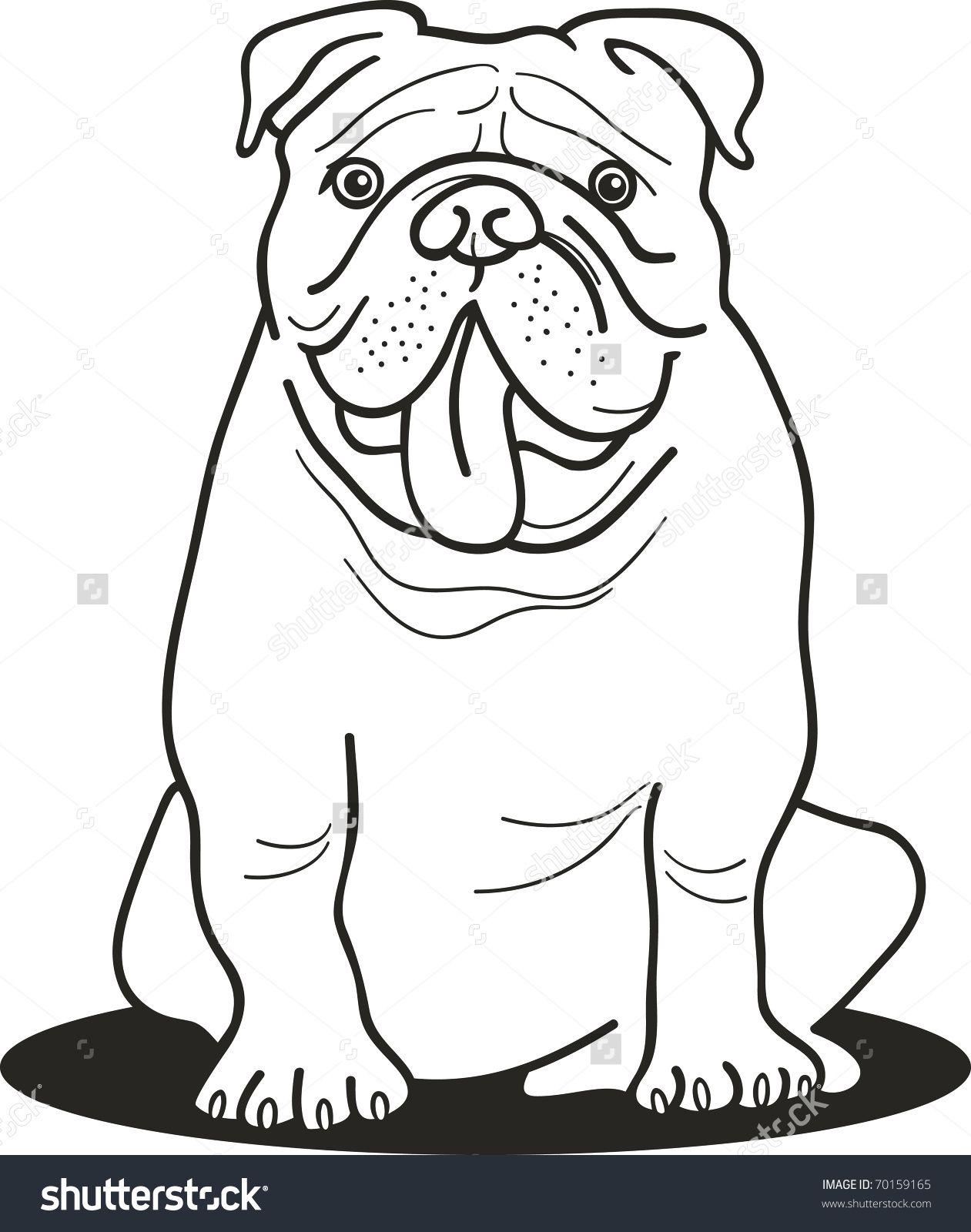 stockvectorillustrationofbulldogforcoloringbook