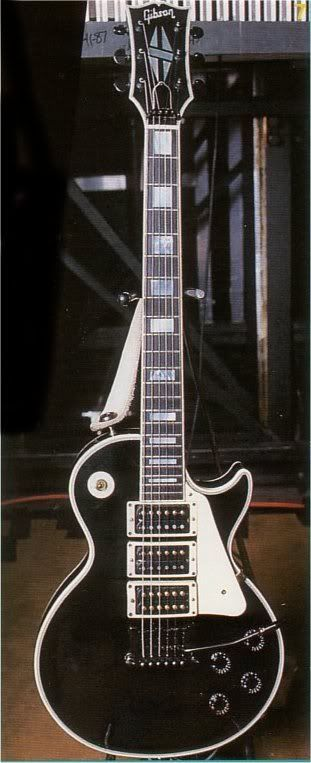 Steve Clark | Gibson Custom Les Paul Custom 3 Pickup. | Cool Guitars ...