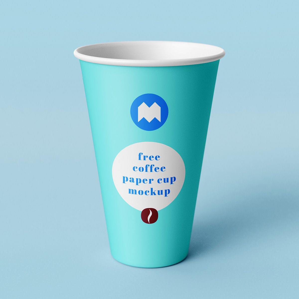 Free coffee paper cup mockup