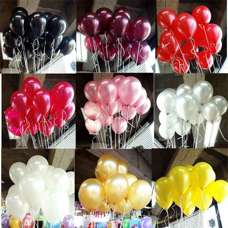 Zwarte Latex Ballonnen 10 Stks 10 Inch Latex Helium Ballon