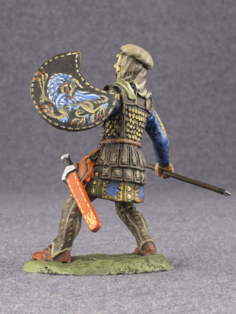 VIKING Warrior 54mm PAINTED Antique toy soldiers 1//32 figurines miniature