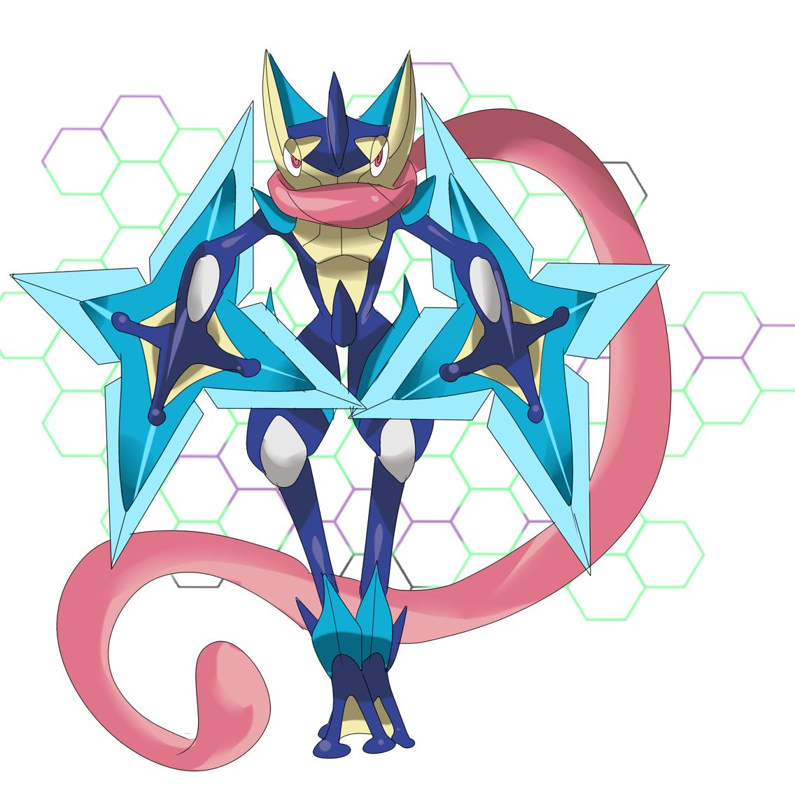 Mega Greninja fan art!!!!!