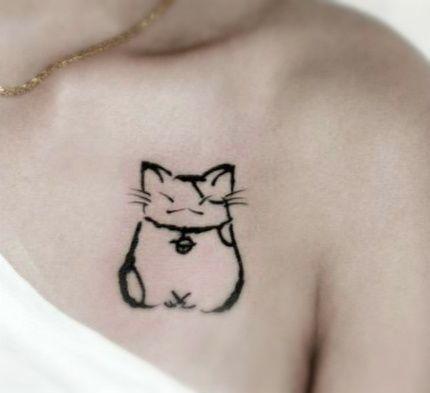 Meow 22 Cool Cat Tattoos Tattoos Cute Cat Tattoo Cat Tattoo Designs Cat Tattoo