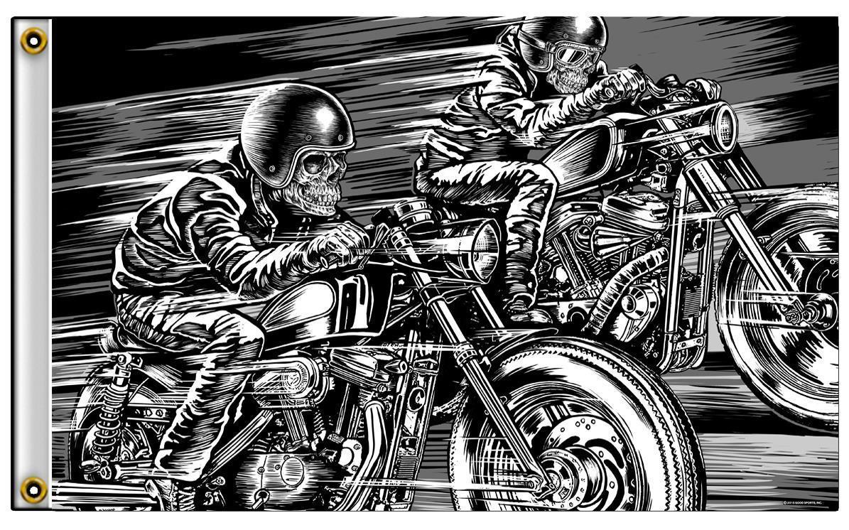 FLAG MOTORCYCLE BIKER BAR FLAG 3/' X 5/'