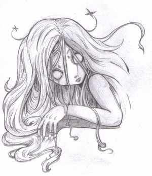 Creepy Drawing With Images Halloween Drawings Creepy Drawings