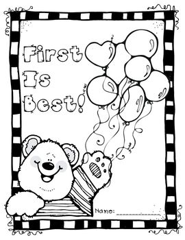 First Day of School Activity Coloring Page Kindergarten