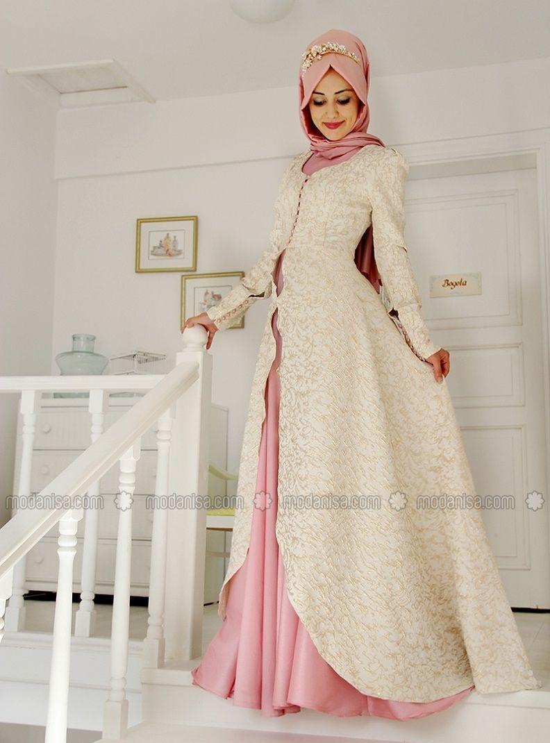 Orkide Abiye Elbise Pudra Gamze Ozkul Pakaian Jelita Model Pakaian