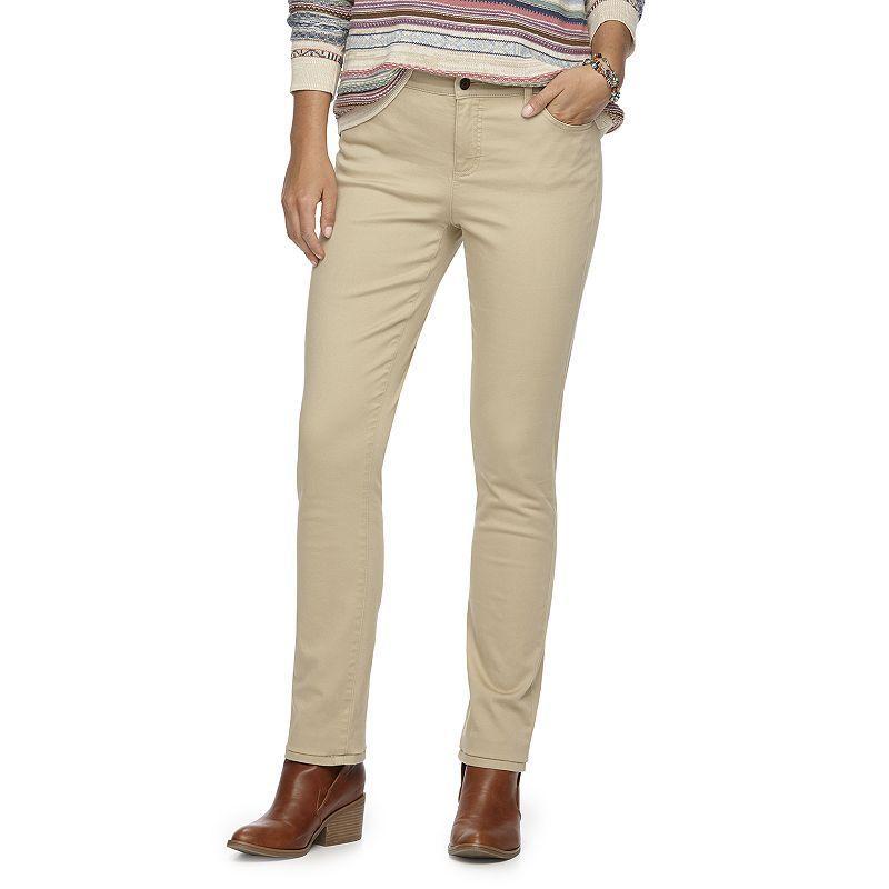 Women's Chaps Twill Skinny Pants, Size: