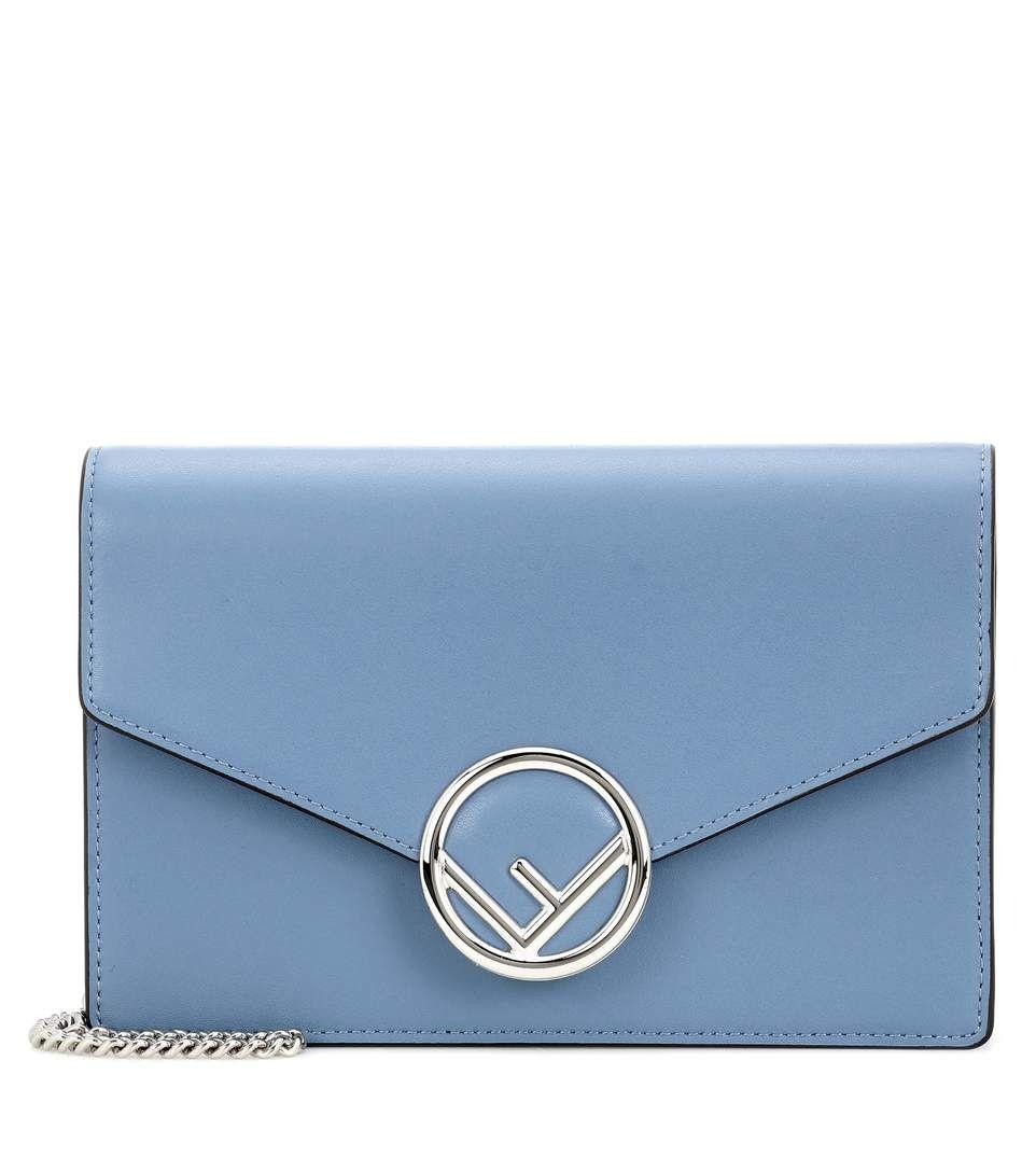 Fendi wallet on chain leather shoulder bag fendi