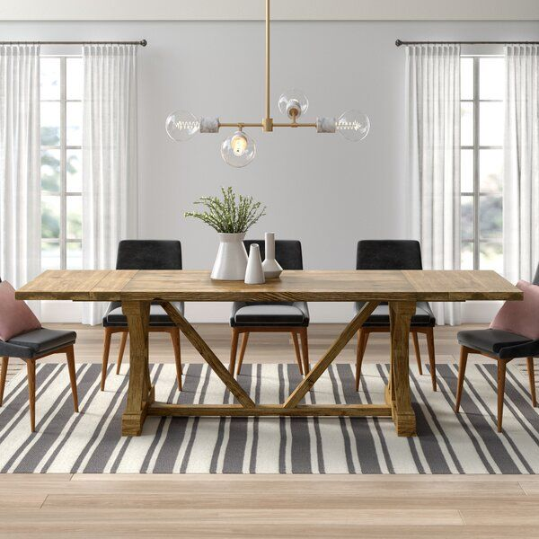 Caterina Extendable Solid Wood Dining Table in 2020 (With