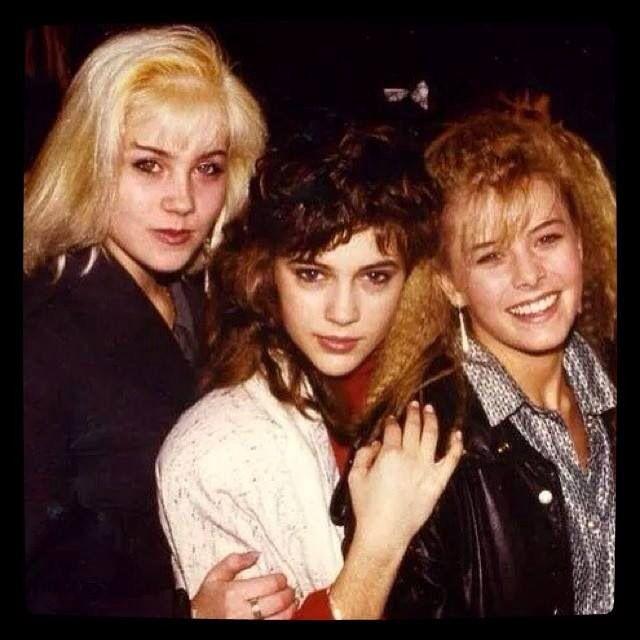 80s Tv Girls Christina Applegate Alyssa Milano Nicole Eggert