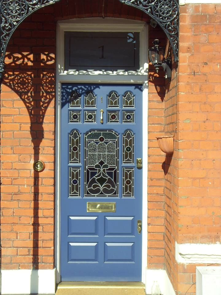 Classic blue front door by the London Door Company in an Edwardian ...