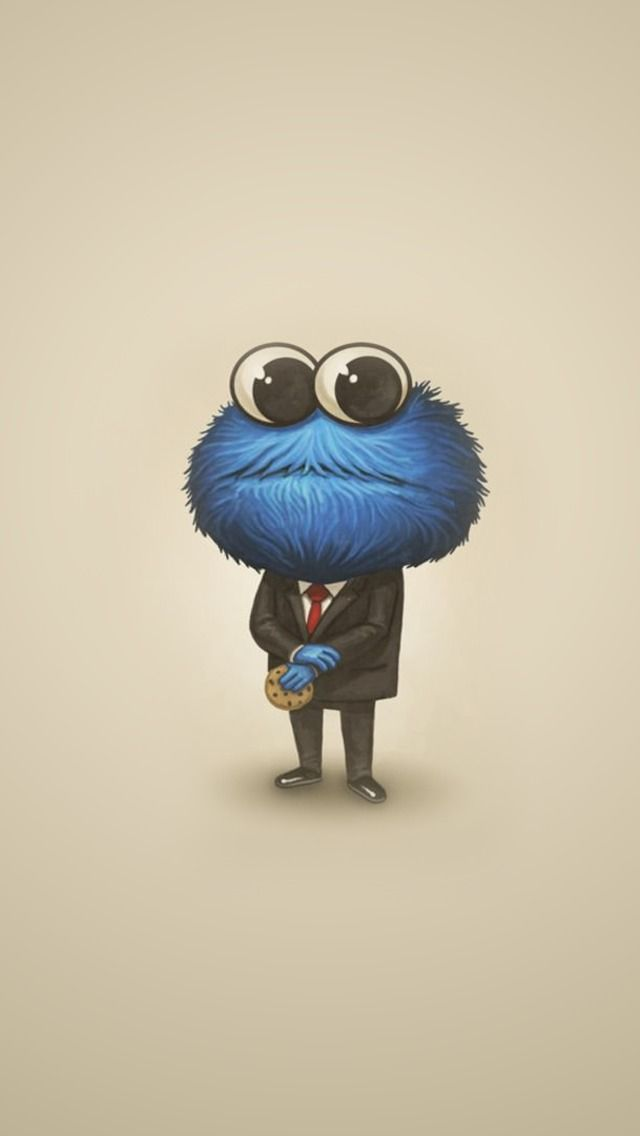 Cookie Monster In A Suit Find More Very Kawaii Wallpapers