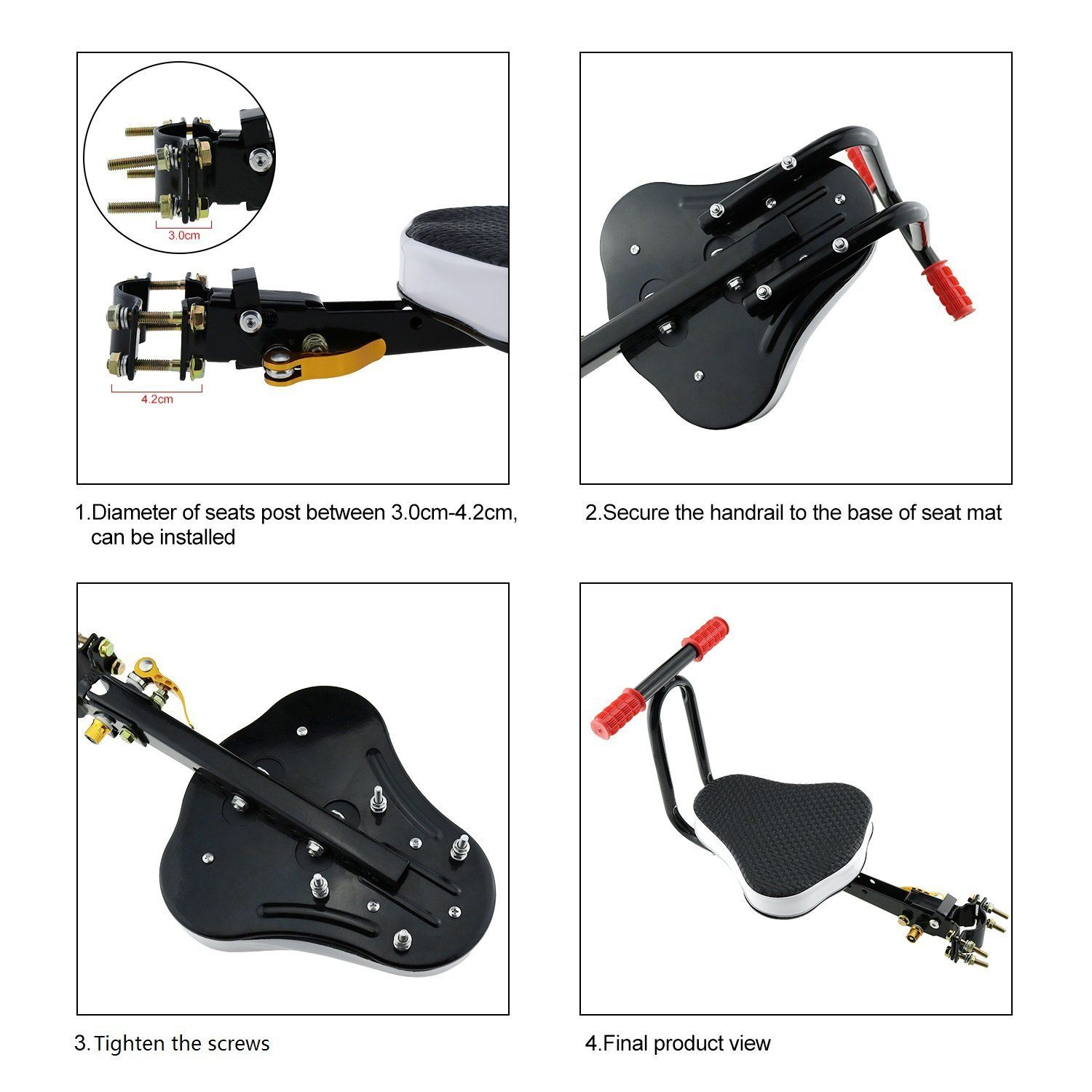 Amazon Com Child Bike Seat Vey Front Facing Mount Toddler Bicycle Seat Bicycle Child Carrier Age 2 7 Years Weight Limit 132 Lbs Sports O Ciclidos Ninos