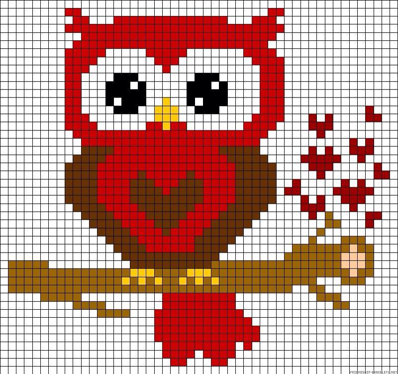 Pixel Uil Haken Pinterest Cross Stitch Stitch En Perler Beads