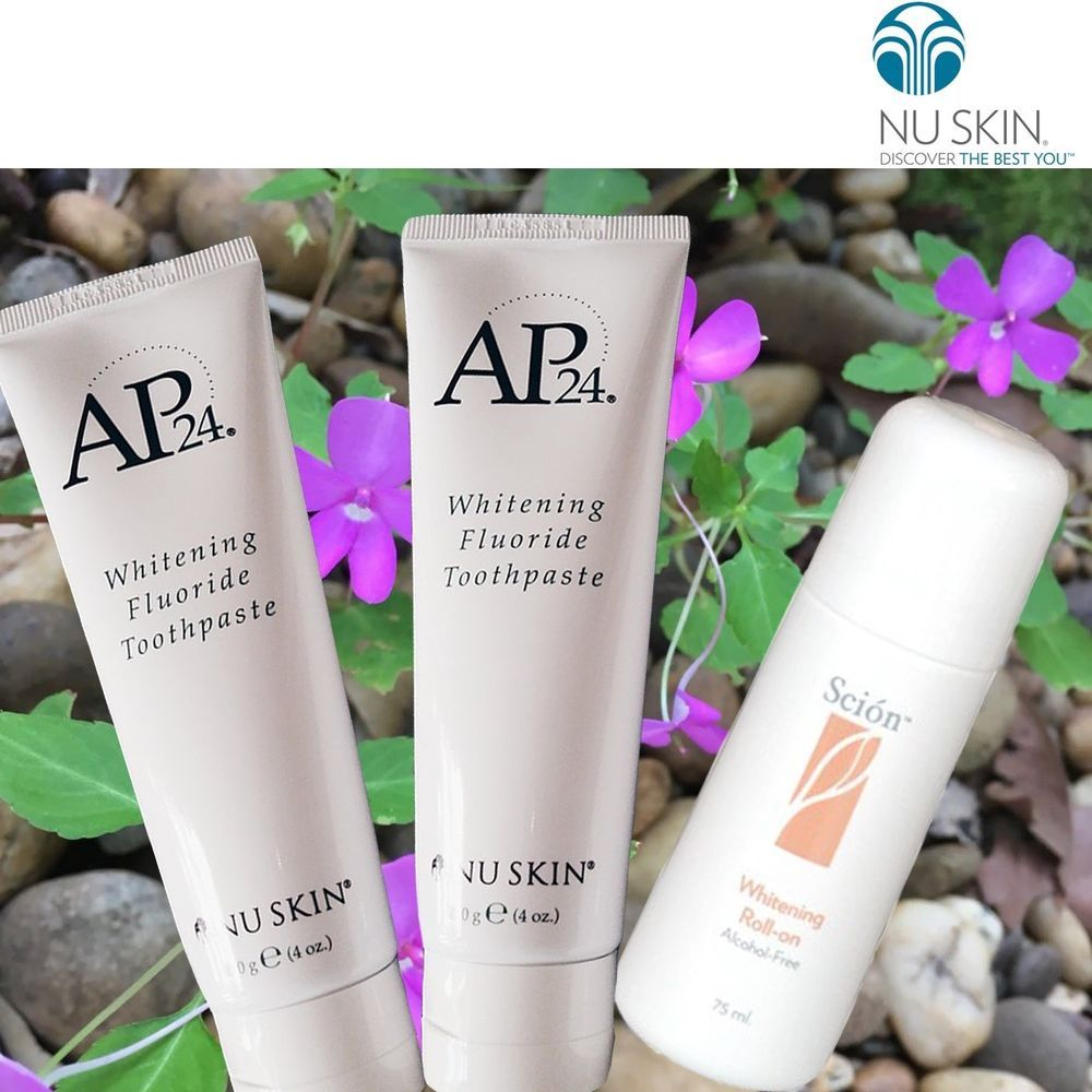 Best Toothpaste 2020.Nuskin Ap24 Toothpaste 2 Tubes 1 Roll On Pure White Scion