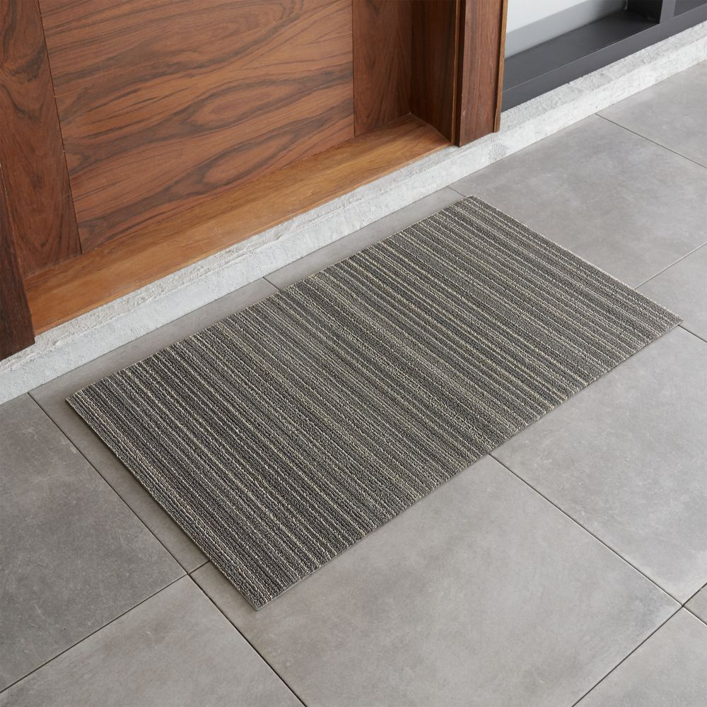Chilewich 20x36 Grey Striped Doormat Reviews Crate And