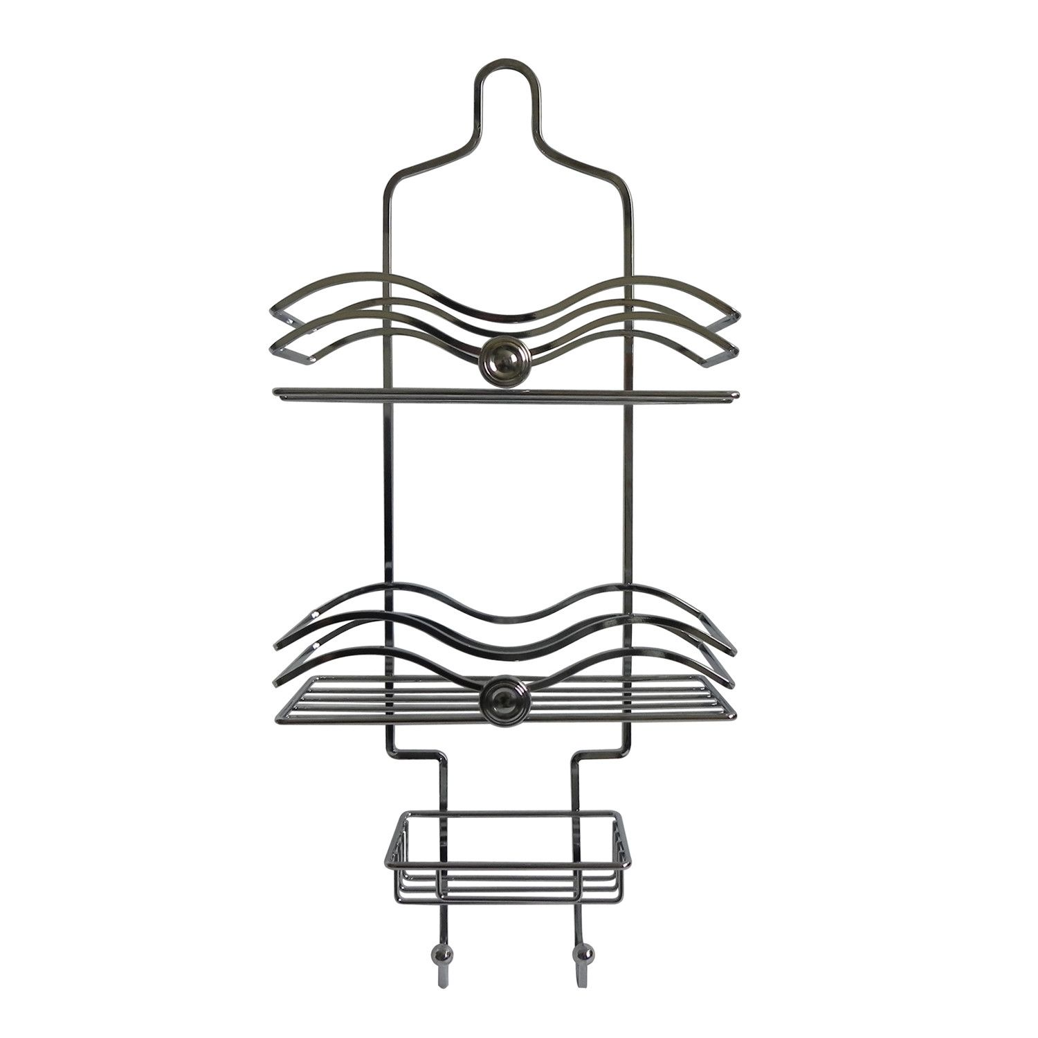 Elegant Home Fashions Shower Caddy With Circle Knobs & Reviews