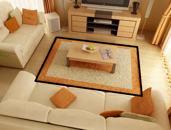 INTERIOR DESIGNDefining Space With Horizontal Elements Carpet A Table It Is