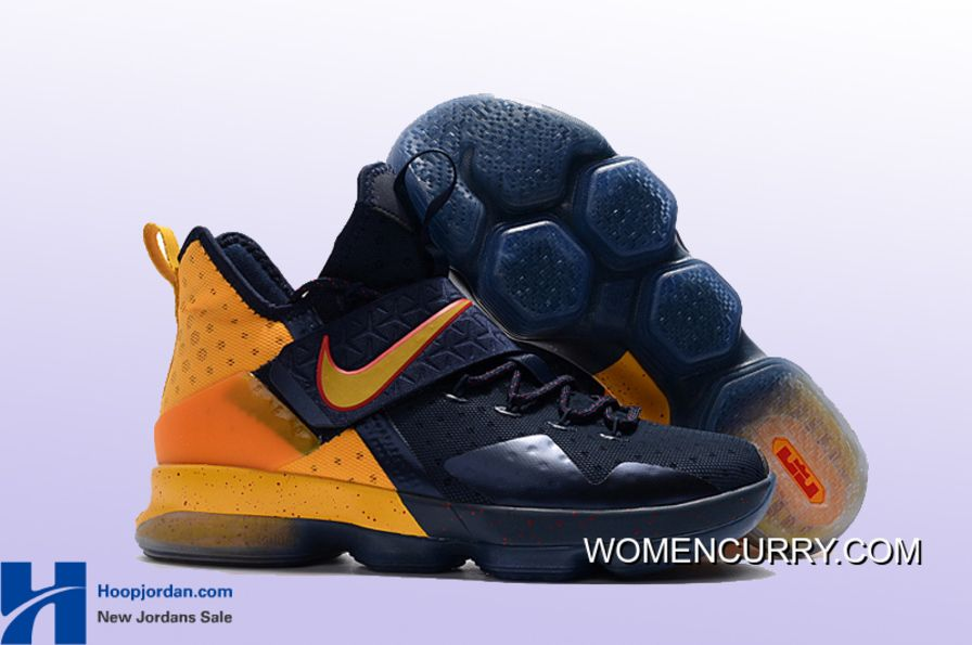 ... norway buy cavs alternate nike lebron 14 pe navy yellow copuon code  from reliable cavs alternate ... 023a84bec