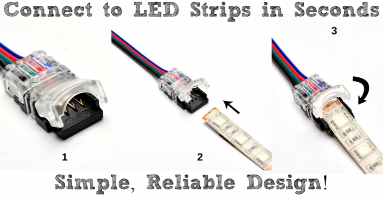 Easy Clip On Connectors For Led Strips Led Light Strips Strip Lighting Led Lights