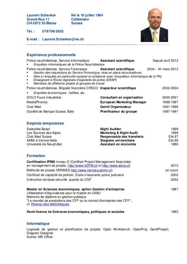 mod u00e8le de candidature en suisse cv  u0026 attestations
