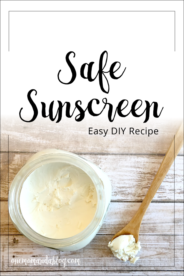 DIY Safe Sun Lotion Recipe One Mom and a Blog Lotion