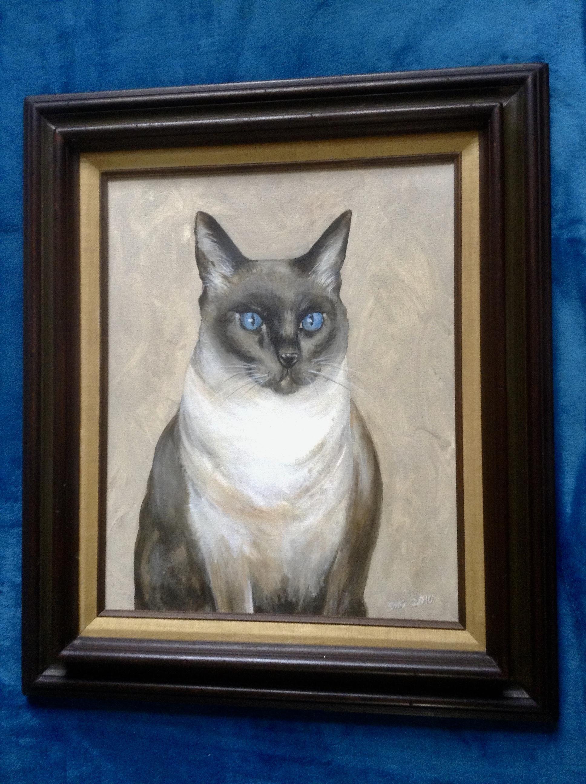 Scott M. Soffa, Blue Eyed Siamese Cat Portrait, Luna