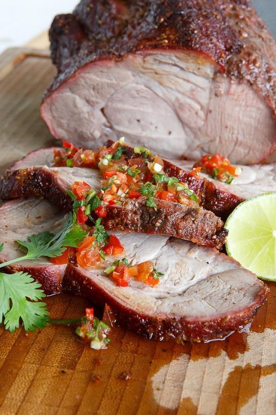 Photo of Grilled pork with chilli rub and caipirinha mob