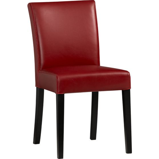 Amazing Lowe Red Leather Side Chair In Dining, Kitchen Chairs | Crate And Barrel