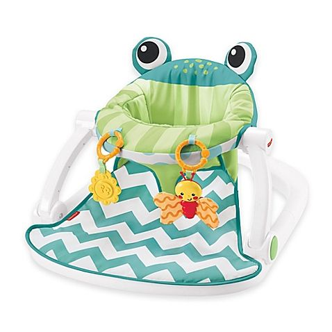 The Comfy Fisher Price Deluxe Sit Me Up Floor Seat Has A Fun Frog