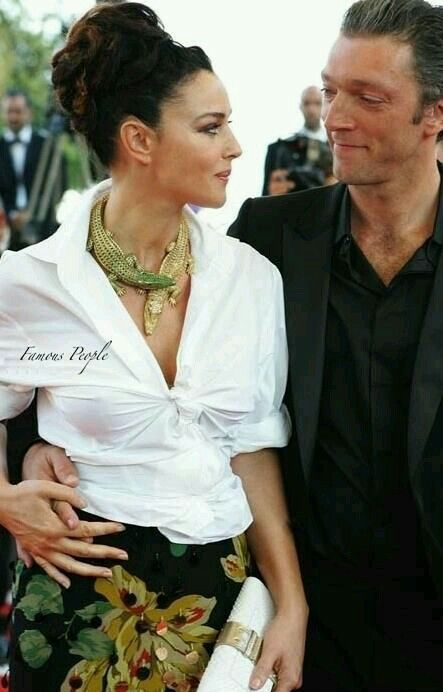 Monica Belluccina and Vincent  Cassel