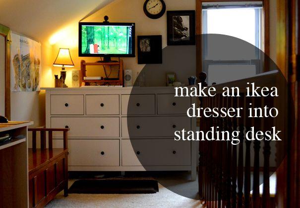 Make An Ikea Dresser Into A Standing Desk