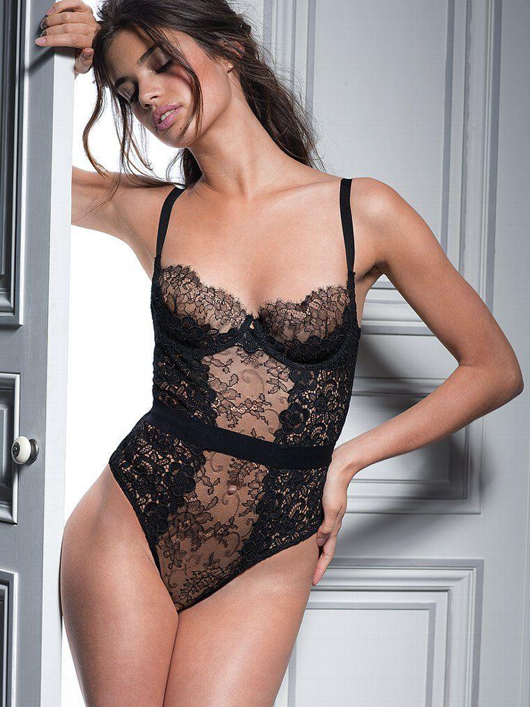 e174b1a001 Bordado Floral Lace Teddy - colección del diseñador de Victoria Secret -  Secret Victoria .