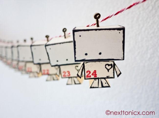 A Little Robot Advent Next To Nicx Imprimibles Pinterest