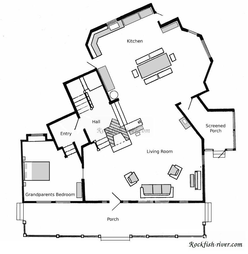 The Waltons Floor plan 1st floor