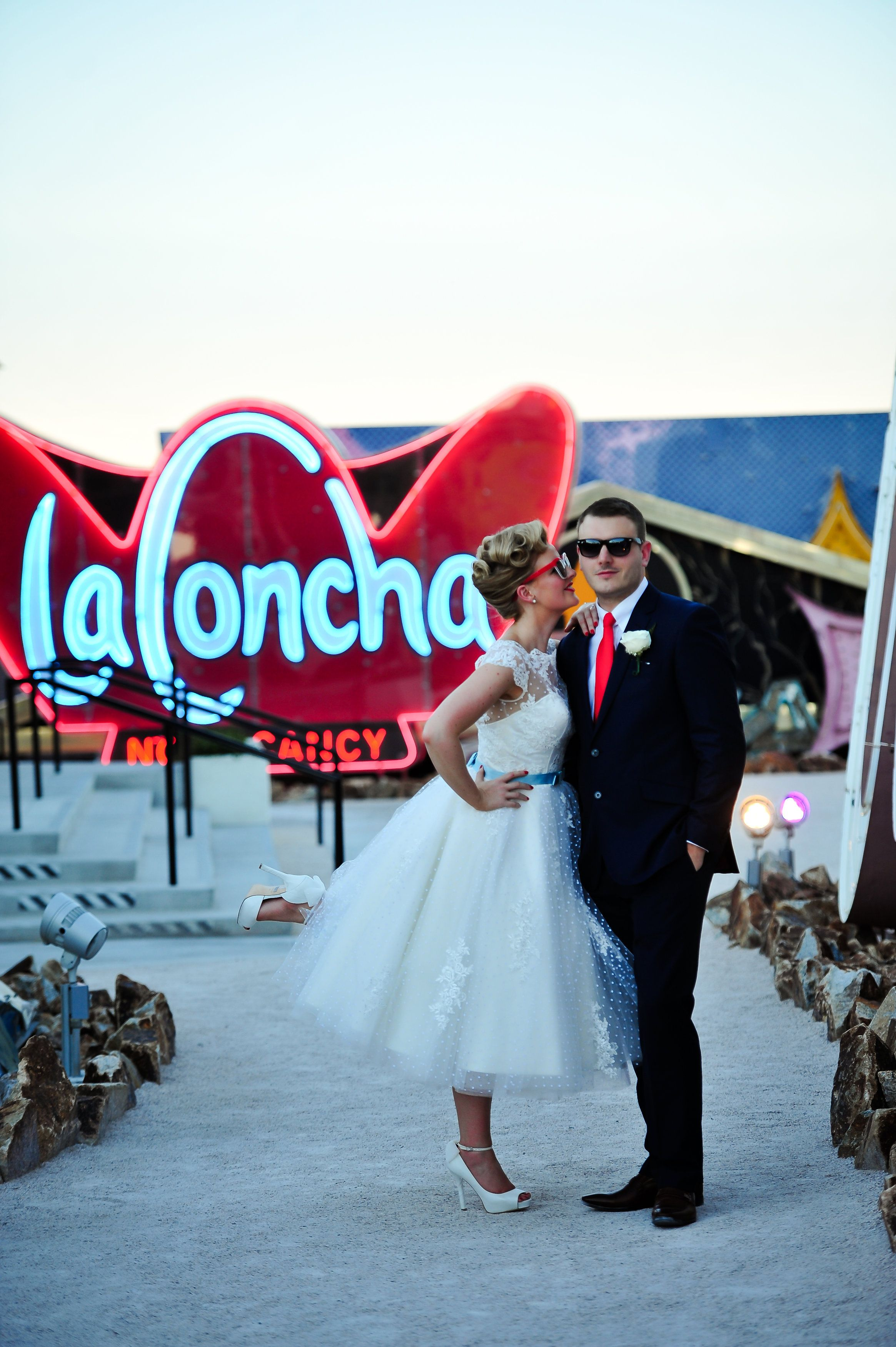 Real Mooshki Bride Vicky, rocking her Claire frock in Las Vegas ...