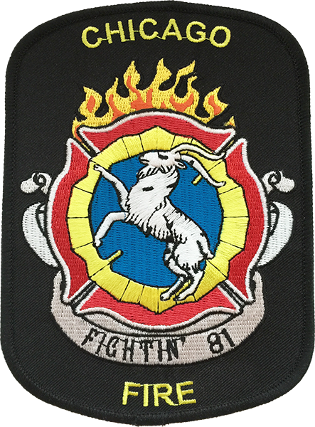 CHICAGO FIRE TV SHOW SHOULDER PATCH Truck 81 Chicago
