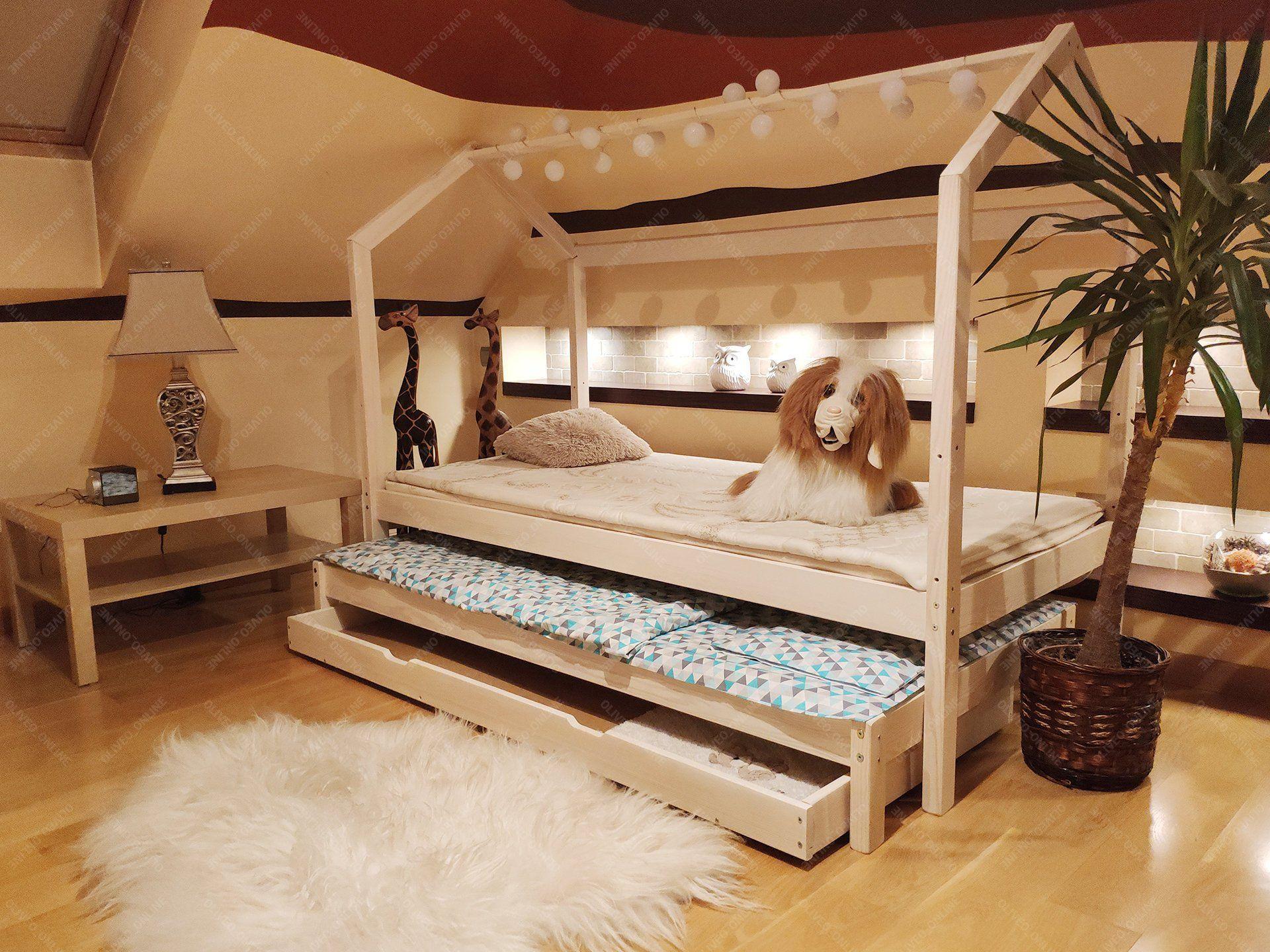 Doppelbett Hausbett, Kinderhaus, Bett für Kinder