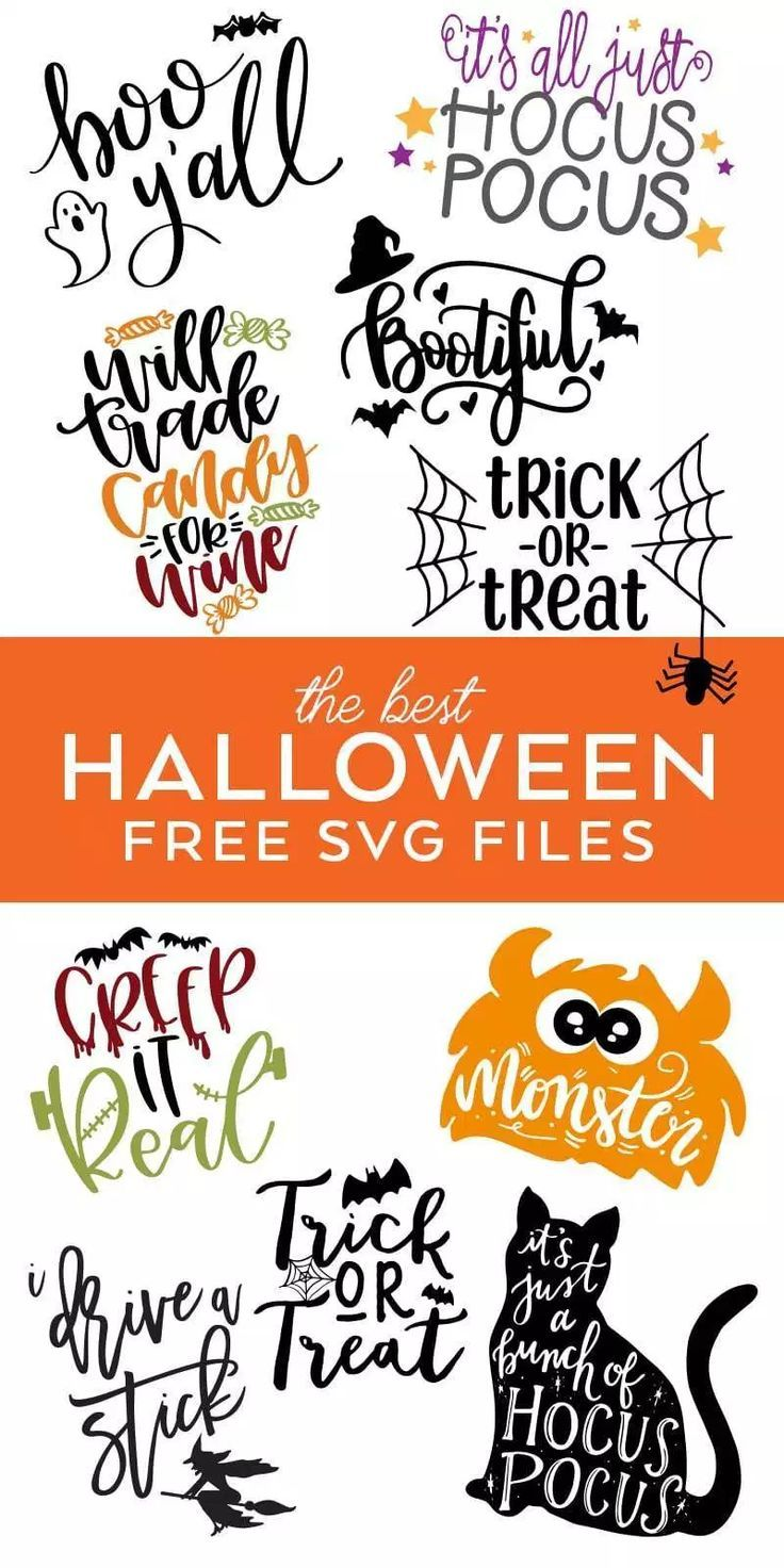FREE Halloween SVG Files - Halloween Files Cricut #cricutcrafts