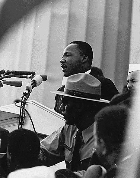 Dr Martin Luther King Giving His I Have A Dream Speech During The