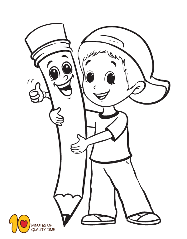 550 Easy Back To School Coloring Pages Images & Pictures In HD