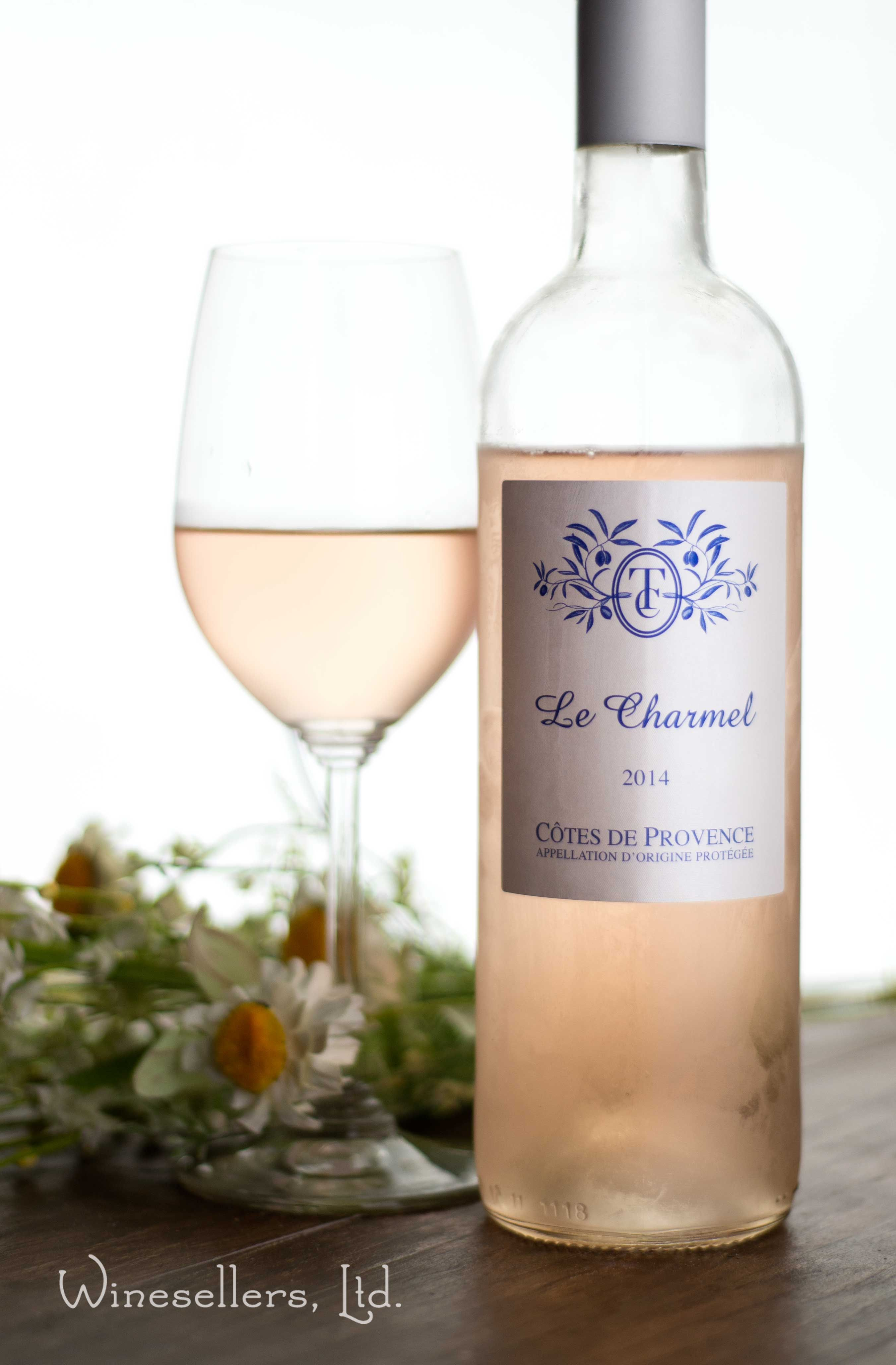 Le Charmel Rose, Cotes de Provence  90 Best Buy Wine & Spirits,  Le Charmel is a new line of wines, a collaboration between Charles Master and his father, longtime Tortoise Creek proprietor Mel Master. Working with vineyards around Bandol, blending equal parts syrah and cinsault with mourvedre, grenache and rolle, they've come up with a wine that feels as fresh as a sea breeze, complete with the saline savor. The fruit is round and crisp, white cherry flavors held taut by acidity.