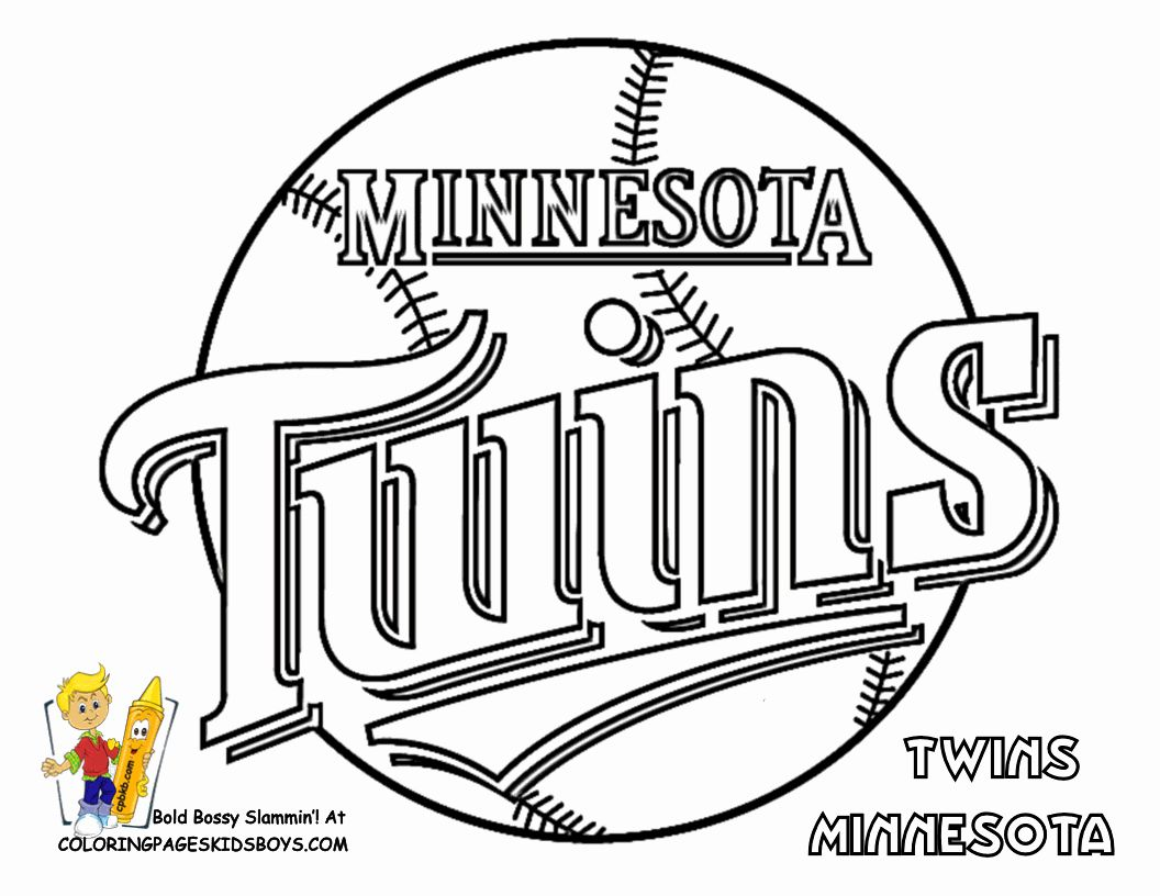 Sports Coloring Pages Pdf New Twins Logo Color Book Sports Coloring Pages Baseball Coloring Pages Football Coloring Pages